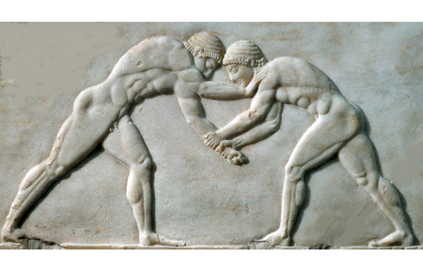 Two Greek Olympic Wrestlers